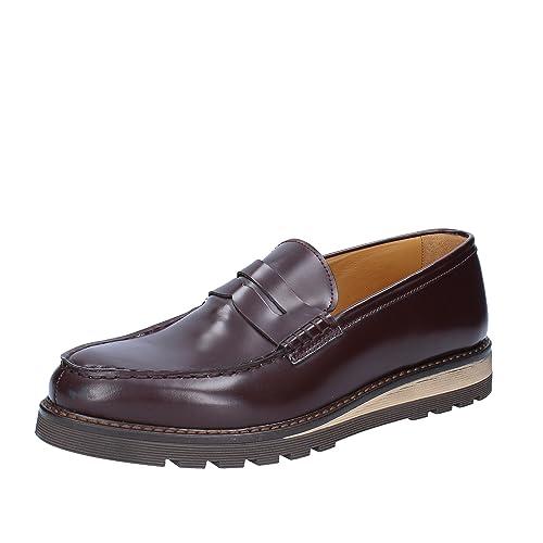 SALVO BARONE - Mocasines de Piel para Hombre Morado Size: 43: Amazon.es: Zapatos y complementos