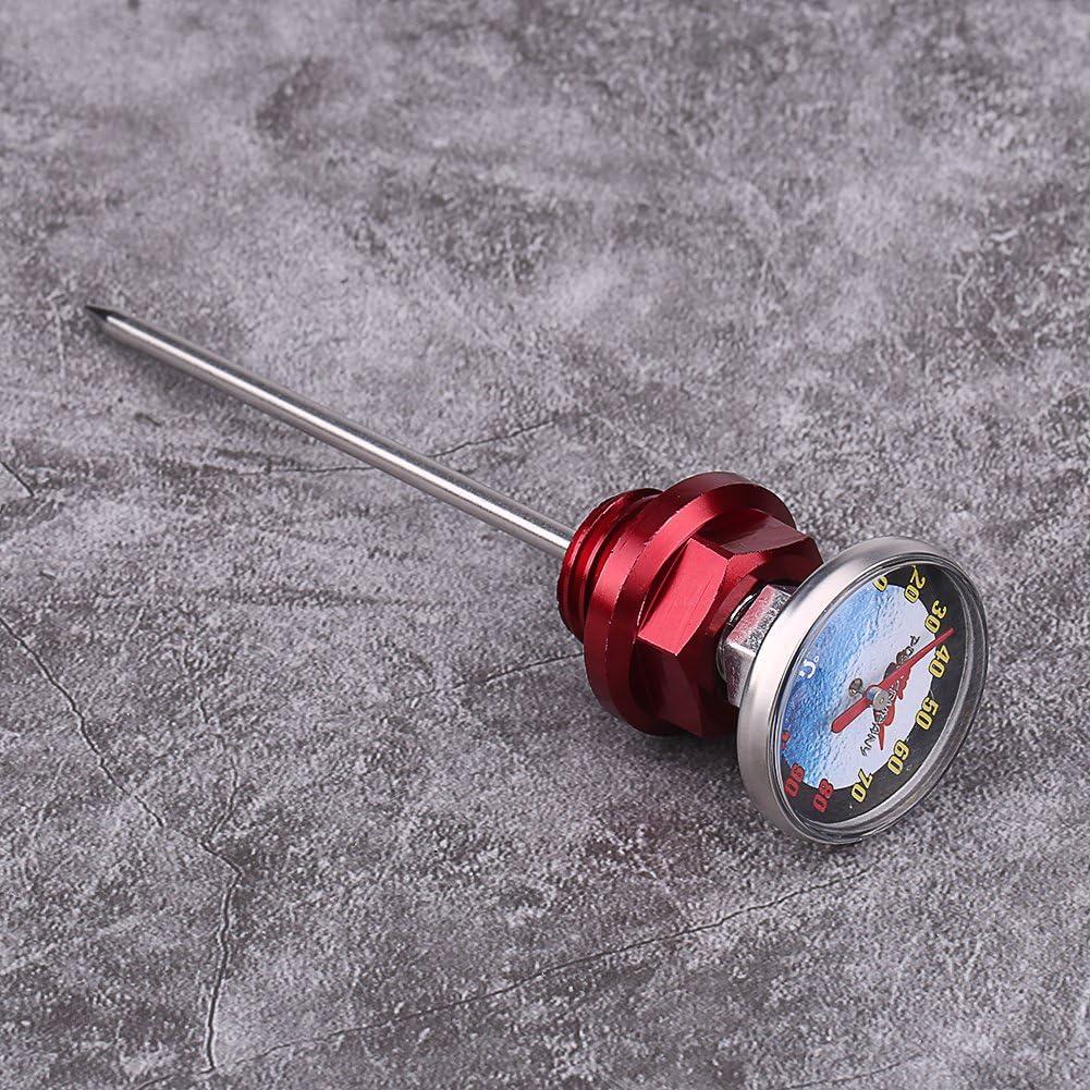 Keenso lega di alluminio livello dell olio gauge asticella temperatura con termometro per 125/cc moto Moto astina di livello olio