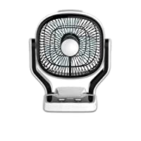 """Gadget-Wagon Sonashi 7 """" Rechargeable Mini High Speed Table Fan With Flash Emergency Light"""
