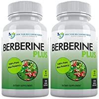 Berberine Plus 1200mg Per Serving - 120 Veggie Capsules Royal Jelly, Supports Glucose Metabolism, Healthy Immune System, Weight Management, Improves Cardiovascular Heart (Pack of 2)