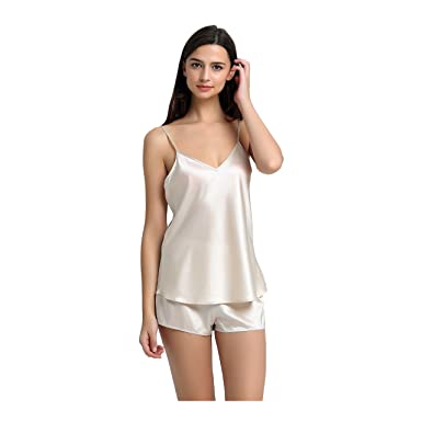 d60b03197f JASMINE SILK Pure Silk Camisole Chemise Top Vest Nude  Amazon.co.uk   Clothing