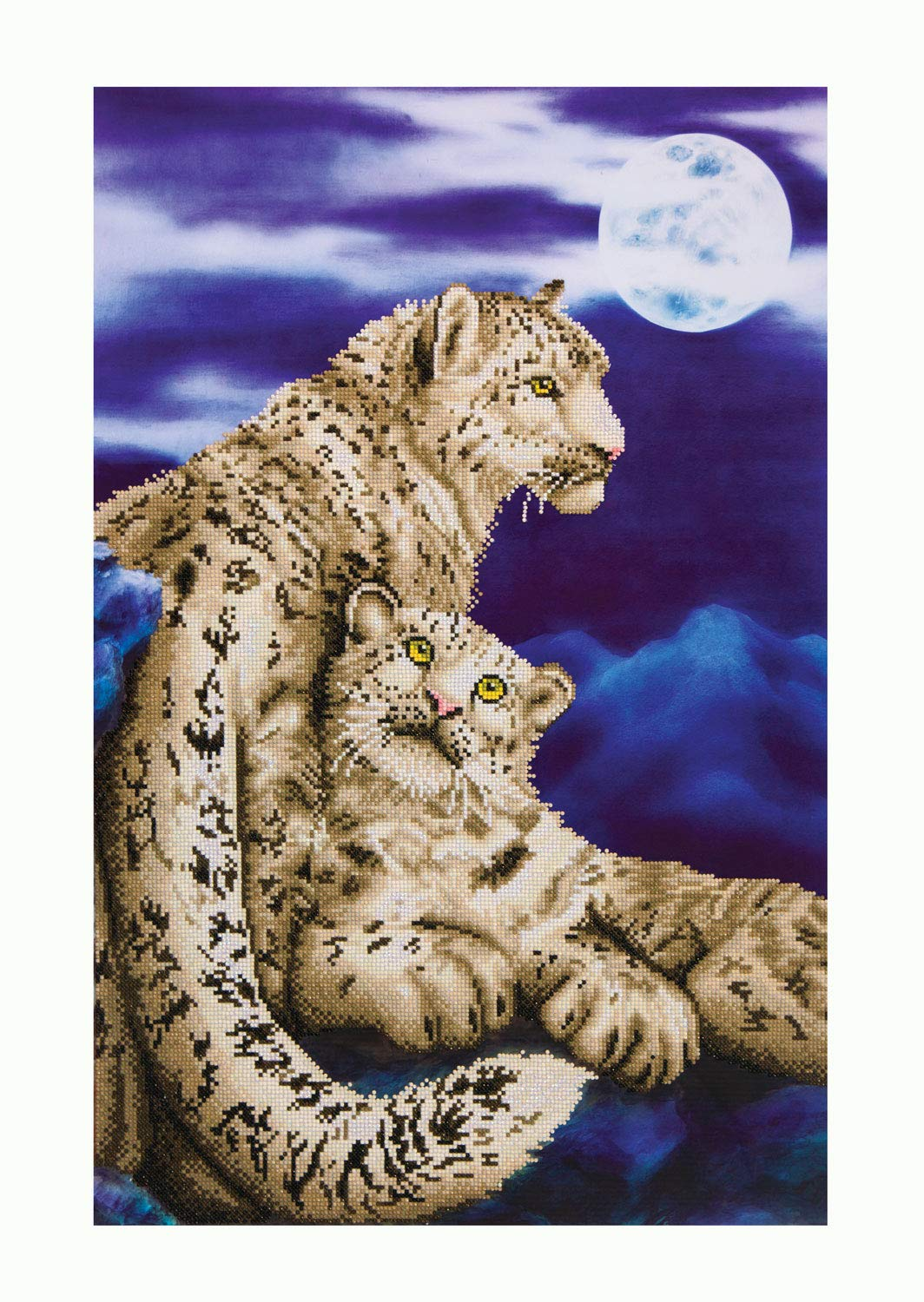 Needleart World Diamond Dotz Diamond Embroidery Facet Art Kit 34.25''X22.75''-Snow Leopards by Needleart World