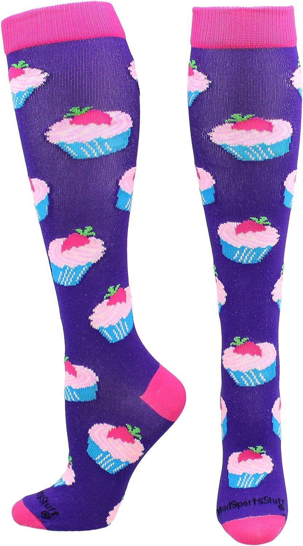 MadSportsStuff Cupcake Socks Over The Calf Length