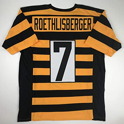 f16ecd1951b Unsigned Ben Roethlisberger Pittsburgh Bumble Bee Custom Stitched Football  Jersey Size Men s XL New No Brands