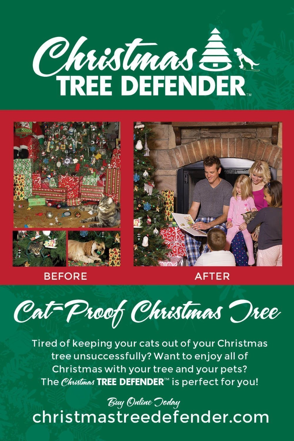 How To Cat Proof Your Christmas Tree.Buy Christmas Tree Defender Cat Proof Your Christmas Tree