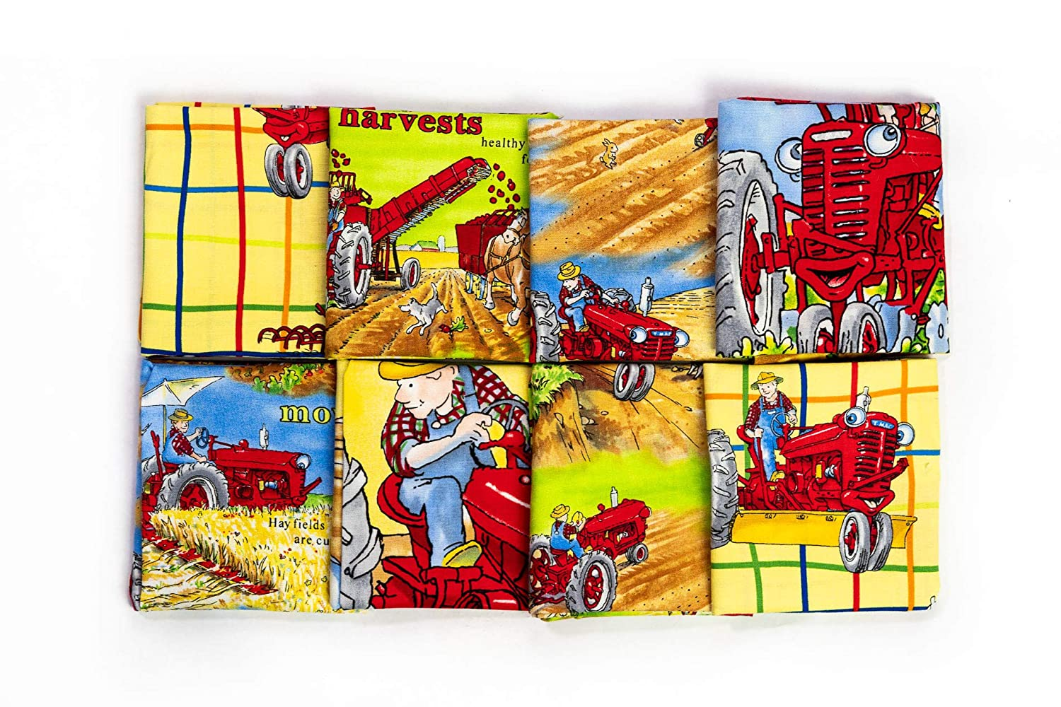 Juvenile Tractor Mac Collection Farmall and IH Tractor Fabric Fat Quarter Bundle