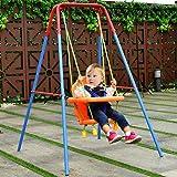 COSTWAY Schaukel Kinderschaukel Babyschaukel Gartenschaukel Schaukelsitz Babyschaukelsitz mit Schaukelgerüst