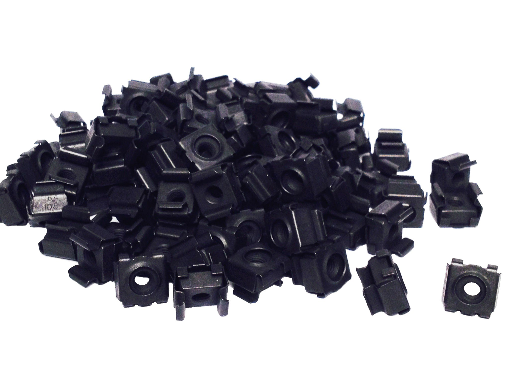RackGold Black 12-24 Cage Nuts 100 Pack - USA Made & by RackGold