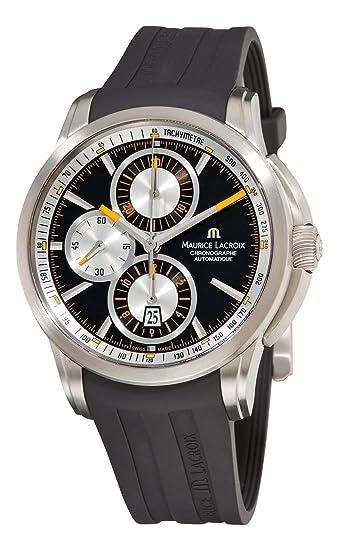 Maurice Lacroix PT6188-TT031330 - Reloj de Pulsera Hombre, Caucho, Color Negro: Maurice Lacroix: Amazon.es: Relojes
