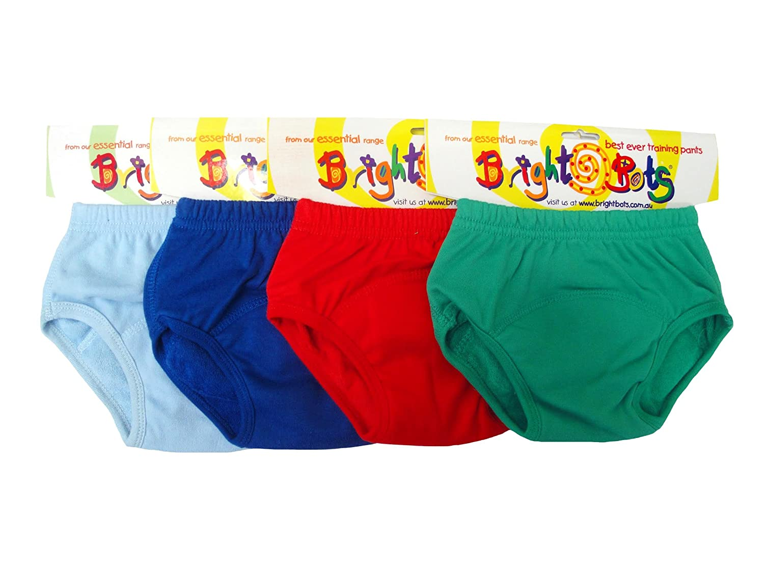 Bright Bots Washable Potty Training Pants Culotte d'apprentissage 4pk Medium with PUL Lining - Garcon (approx 18-24mois) 2AAETRA-4MB