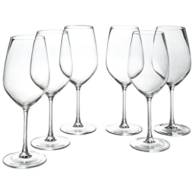 Stone & Beam Traditional Red Wine Glass, 22-Ounce, Set of 6