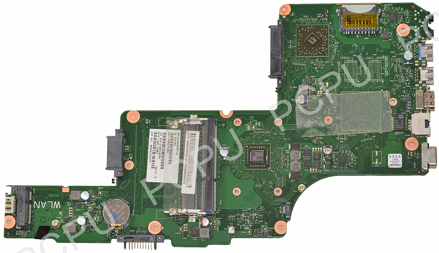 Amazon.com: V000275380 Toshiba Satellite C855D Laptop Motherboard w/ AMD E2- 1800 1.4Ghz CPU: Computers & Accessories