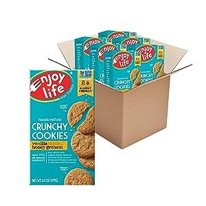 Enjoy Life Foods Crunchy Cookies Vanilla Honey Graham, 37.8 Ounce (Pack of 6)
