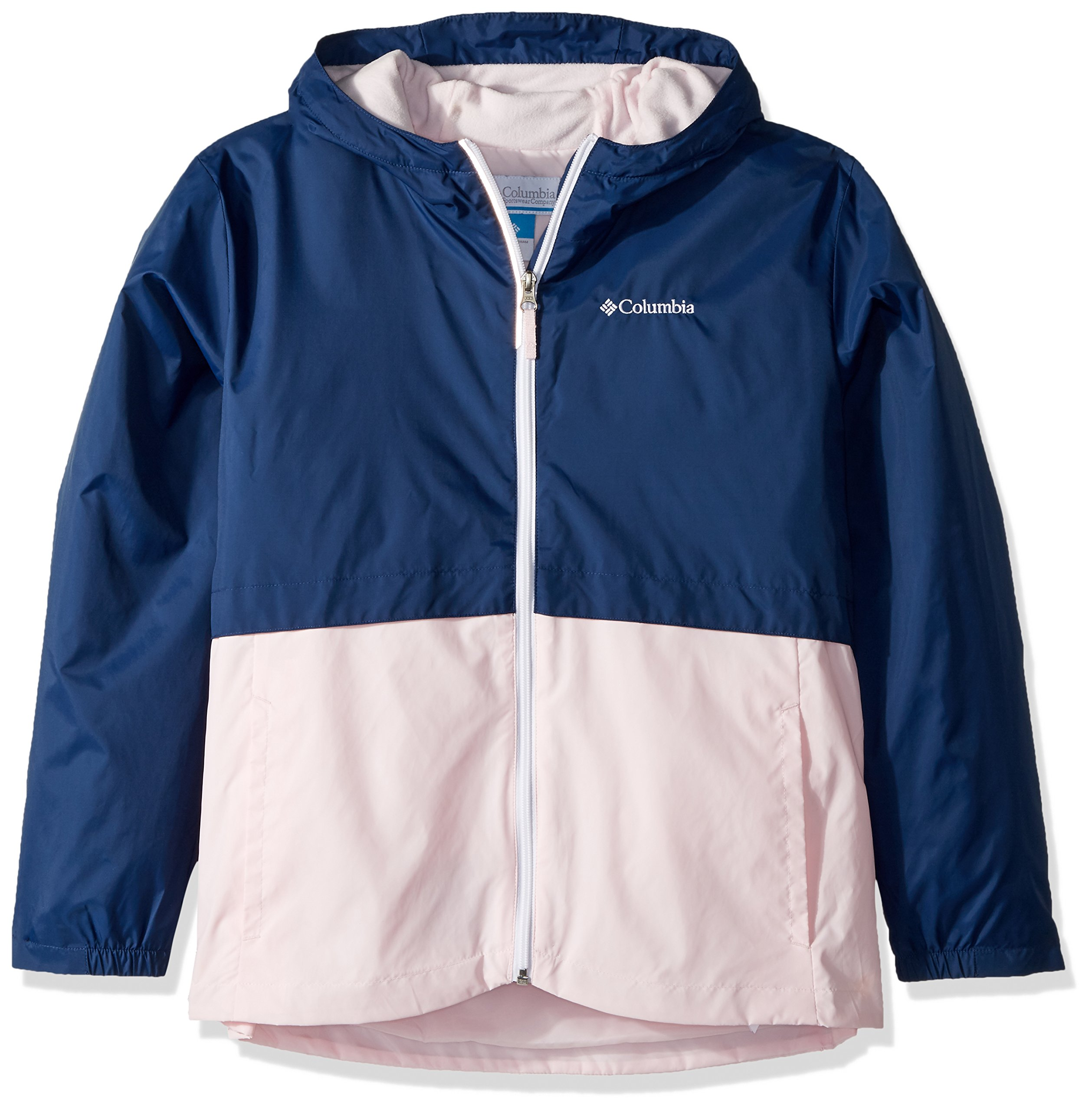 Columbia Little Girl's Rain-Zilla Jacket, Carbon, Whitened Pink, S
