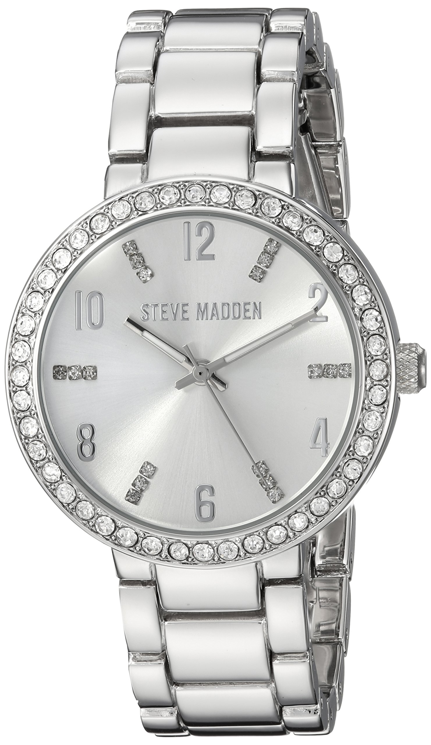 Steve Madden Women's Quartz and Alloy Casual Watch, Color:Silver-Toned (Model: SMW080)
