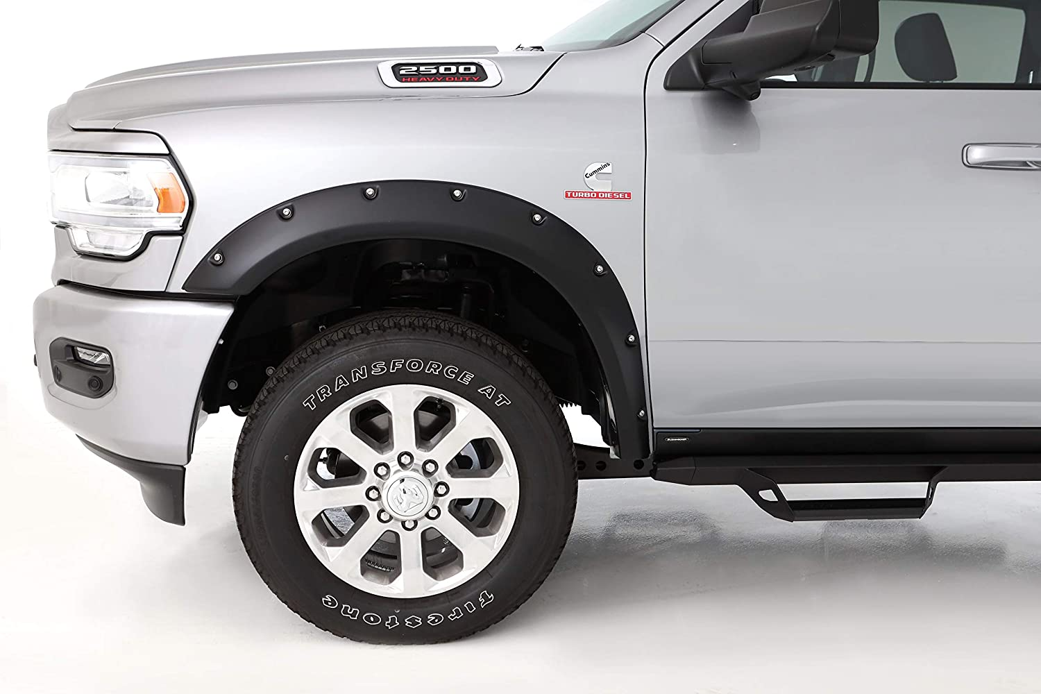 4-Piece Set for 2019 Dodge Ram 2500//3500 Bushwacker 50930-02 Black Pocket Style Fender Flares