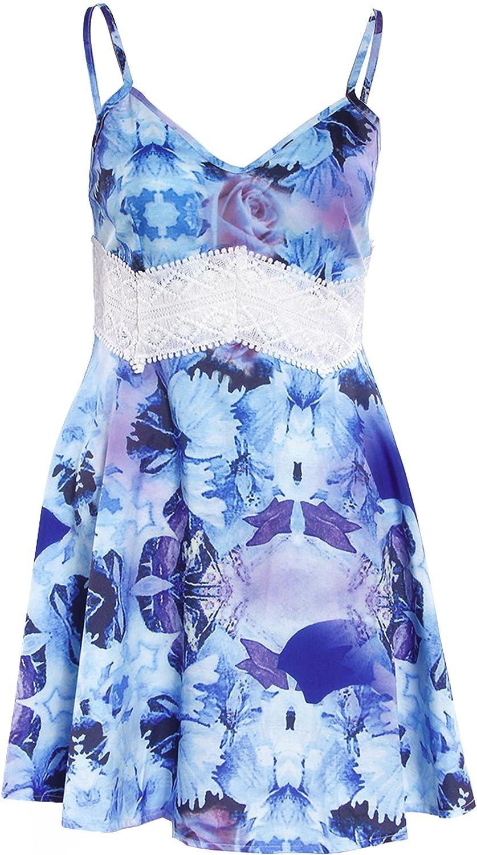 Elevesee Donne Profondo Scollo a V Aperto-Back Beach Bikini Cover-up Estate Cover Up Beach Skirt Dress