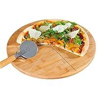 Kesper plateau à pizza bambou certifié fSC, 32 cm