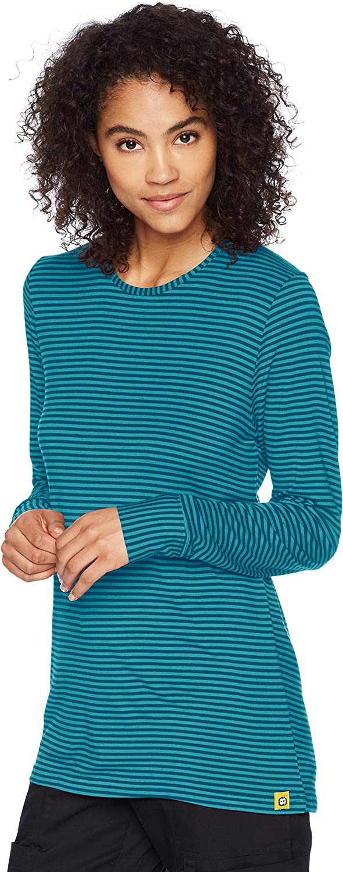 WonderWink Women's Long Sleeve Striped Tee
