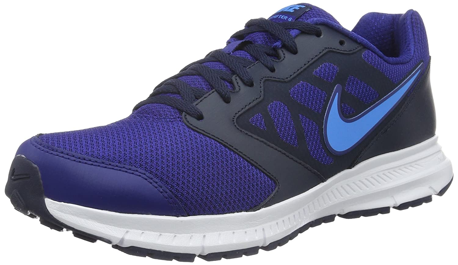 Nike Downshifter 6 Running Shoe B019DN0S92 12 D(M) US|Deep Royal Blue/Blue Glow/Obsidan/White