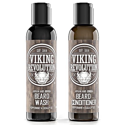 1. Best Deal Beard Wash & Beard Conditioner Set - Best Beard Shampoo and Conditioner for Beard Growth