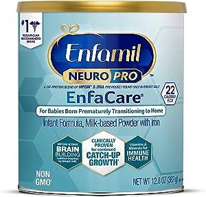 Enfamil NeuroPro EnfaCare Premature Baby Formula Milk Based w/ Iron Powder Can, White, 12.8 Oz