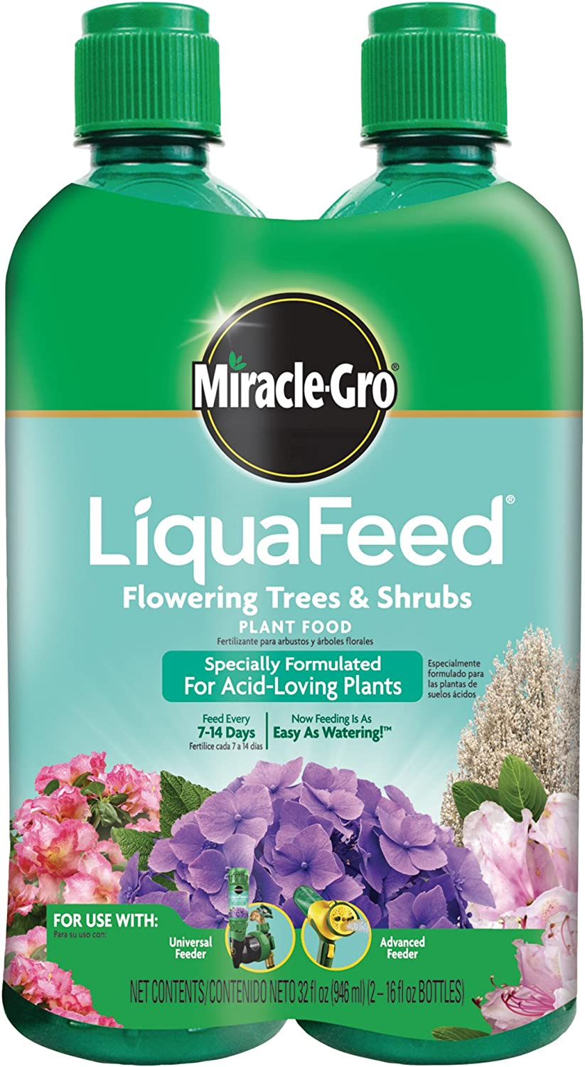 Miracle-Gro LiquaFeed Flowering Trees & Shrubs Plant Food, 2-Pack Refills
