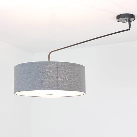 XXL plafón beweglich pantalla de tela gris lámpara de techo ...