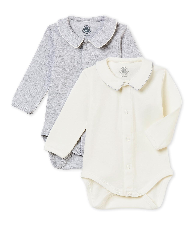 Petit Bateau Baby-Jungen Formender Body, 2er Pack