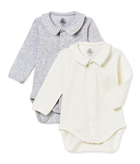 beb98d491 Petit Bateau SF Bodies Acol ML Body (Lot de 2) Bébé garçon: Amazon.fr:  Vêtements et accessoires