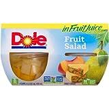 Dole Fruit Bowls Fruit Salad in Fruit Juice, Healthy Snack, 107 ml, 4 Cups
