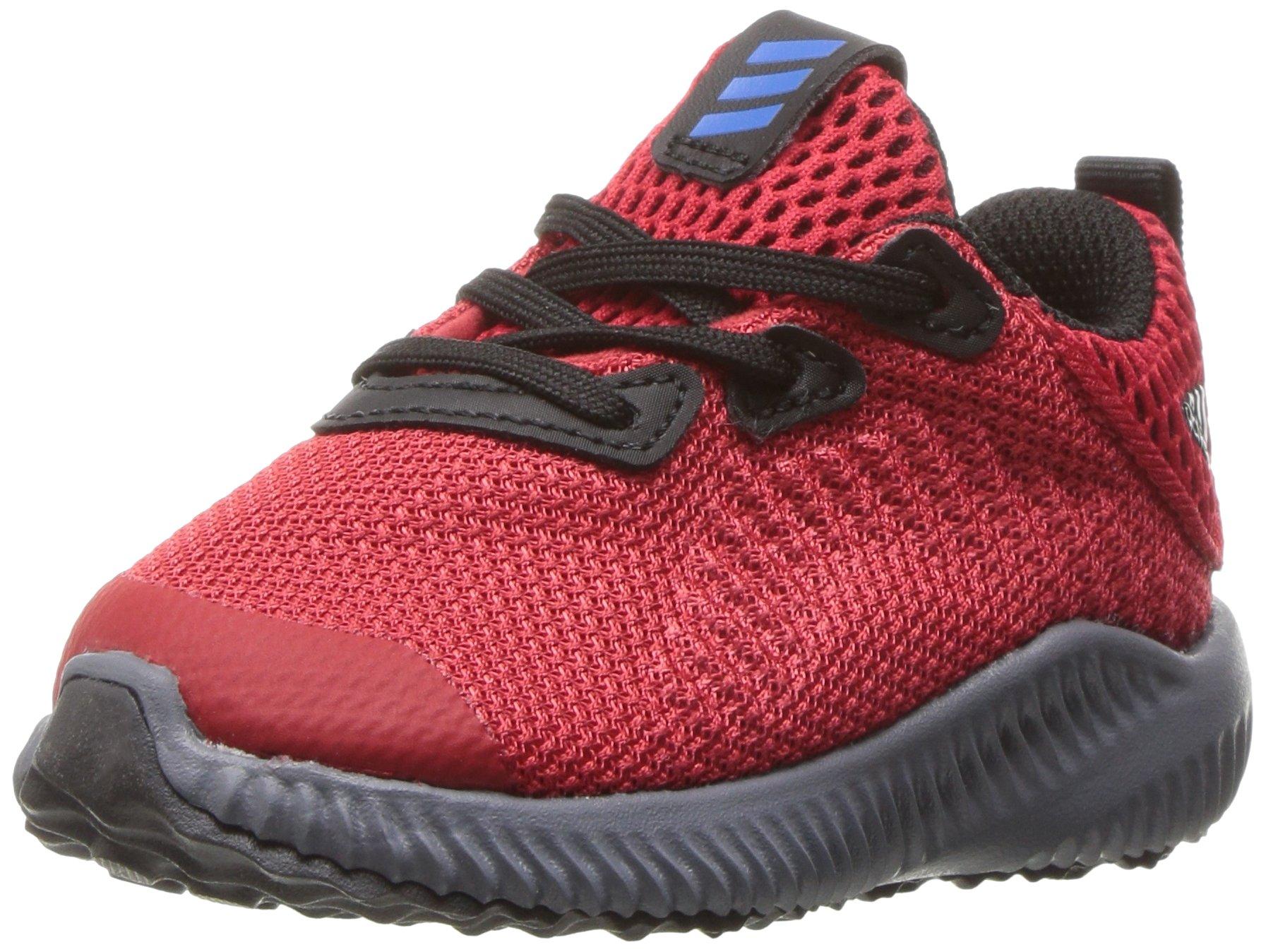adidas Kids' Alphabounce Sneaker, Scarlet/Satellite/Black, 8 M US Toddler