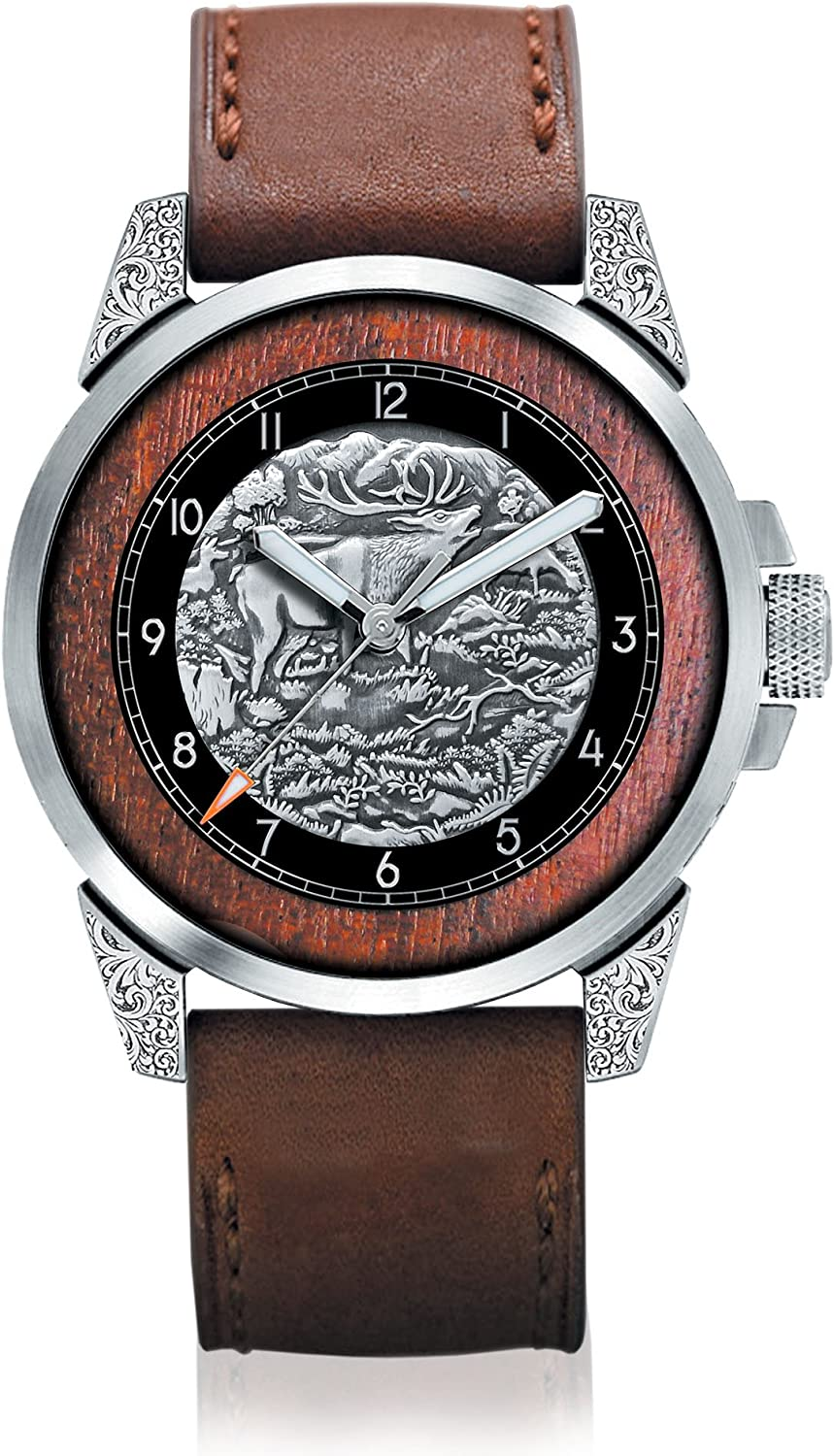 King of The Woods' Stag Men's Watch – Handcrafted Stag Watch