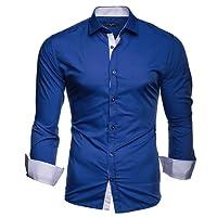 Kayhan Herren Hemd Slim-Fit Langarm Hemden Freizeit Hochzeit Arbeit Business Super Qualität K-2Face S M L XL 2XL 3XL 4XL 5XL 6XL