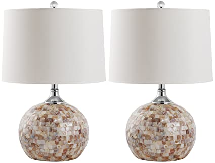 Safavieh Lighting Collection Nikki Ivory Shell 21.5 Inch Table Lamp (Set Of  2)