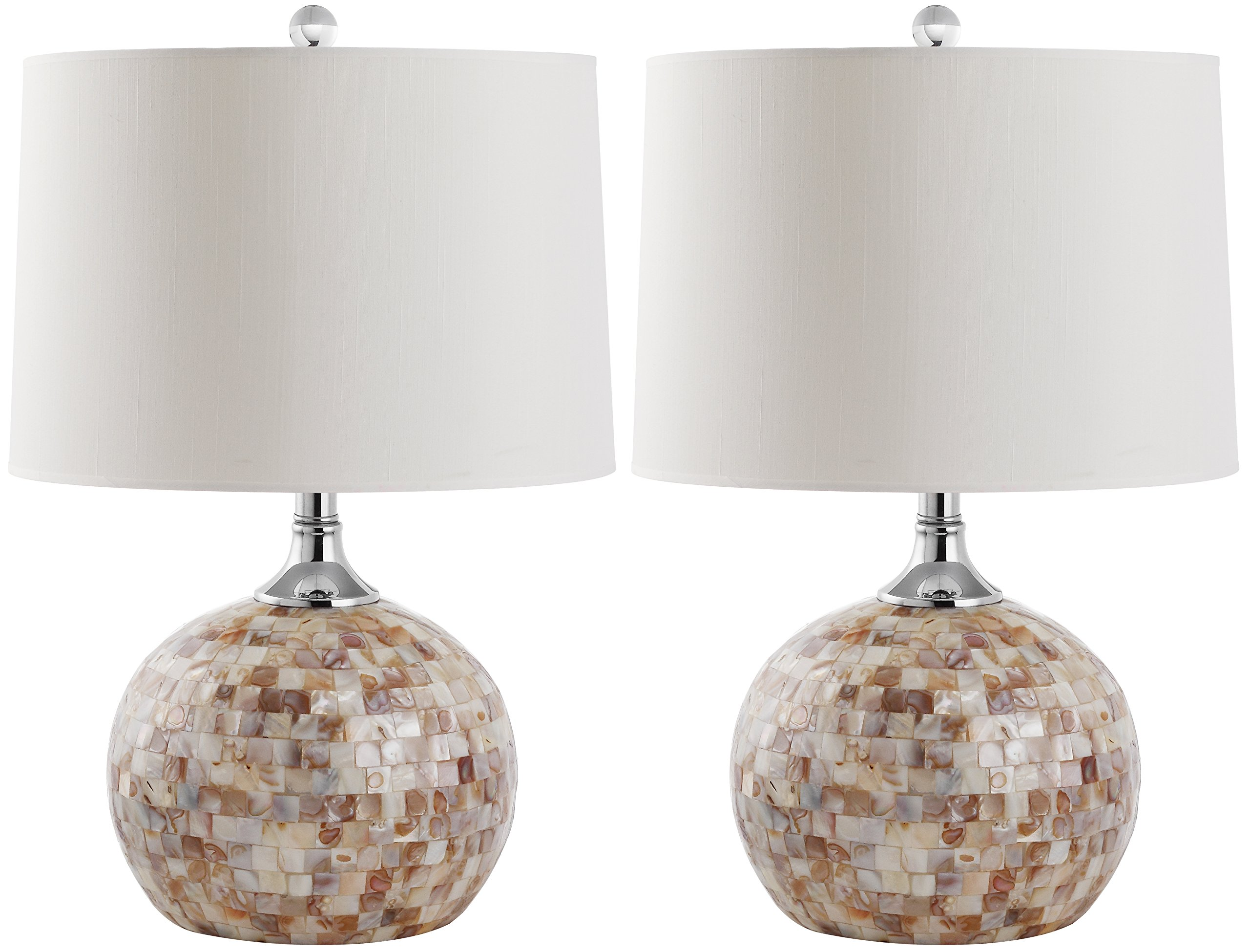 Safavieh Lighting Collection Nikki Ivory Shell 21.5-inch Table Lamp (Set of 2) by Safavieh
