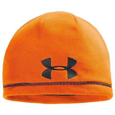 Under Armour caza tiempo frío polar Beanie – Gorro de seguridad naranja