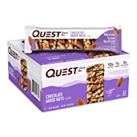 12-Pack Quest Nutrition Chocolate Mixed Nuts Snack Bar 1.52oz