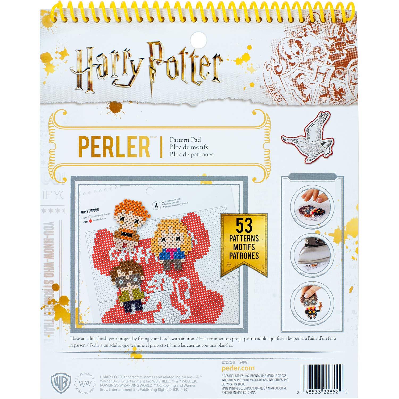 Perler Beads Harry Potter Pattern Instruction Pad, 53 Patterns, Multicolor