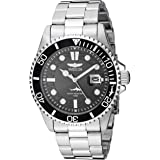 Invicta Men's Pro Diver 43mm Stainless Steel Quartz Watch, Silver (Model: 30018)