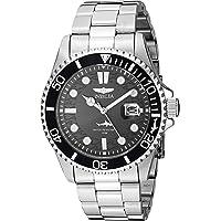 Invicta Pro Diver Reloj de cuarzo para hombre con correa de acero inoxidable, plateado, 22 (Modelo: 30018)