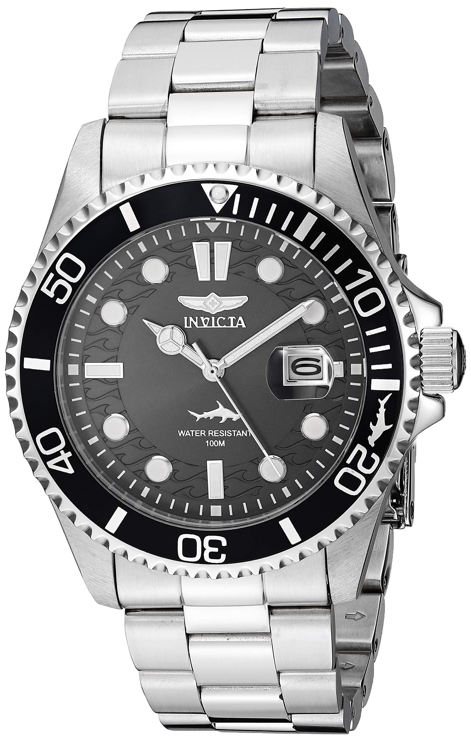 Invicta Men's Pro Diver Quartz Watch with Stainless Steel Strap, Silver, 22 (Model: 30018) by Invicta