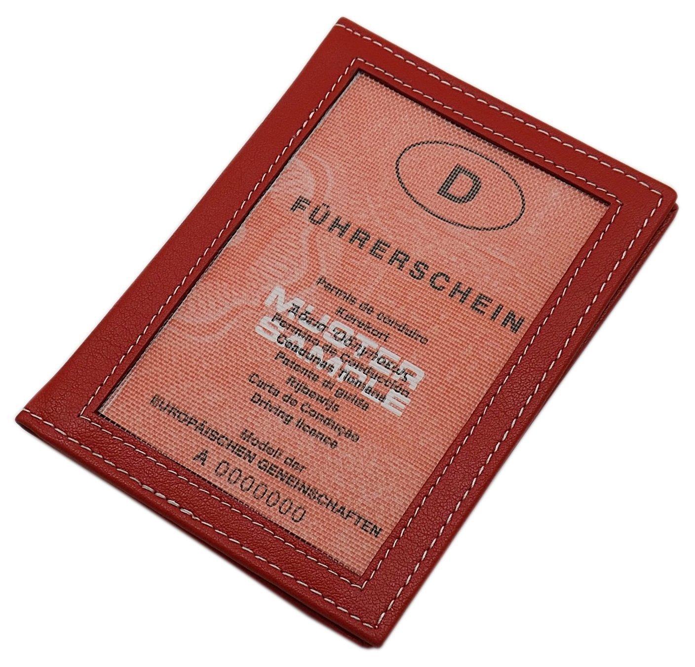 Pochette de carte d'identité en cuir de veau ou cuir de buffle 13 compartiments MJ-Design-Germany en différentes couleurs (Buffle Marron)
