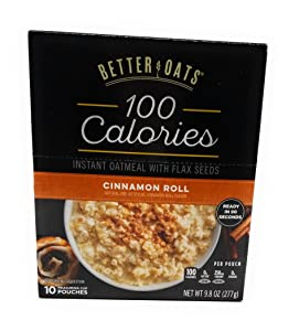 Better Oats OAT FIT Instant Oatmeal CINNAMON ROLL 9.8oz (3 Pack)