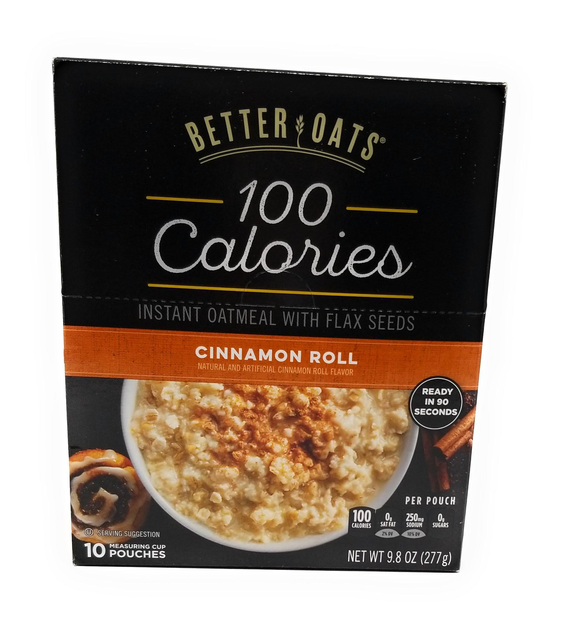 Better Oats OAT FIT Instant Oatmeal CINNAMON ROLL 9.8oz (3 Pack)