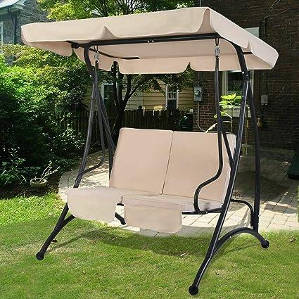 Awesome Amazon Com Stark Item 2 Person Canopy Swing Chair Patio Machost Co Dining Chair Design Ideas Machostcouk