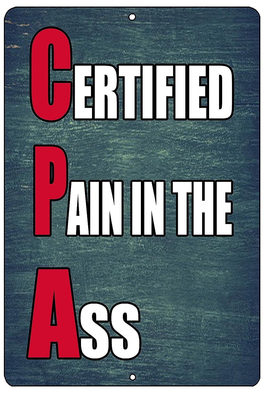 Rogue River Tactical Funny Sarcastic Metal Tin Sign Wall Decor Man Cave Bar CPA Accountant Book Keeper