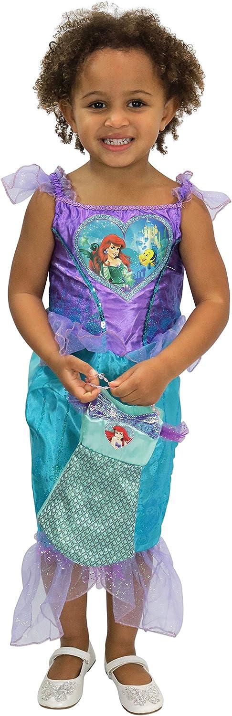 Disney Disfraz Vestido y Bolso para Niñas La Sirenita Ariel Morado ...