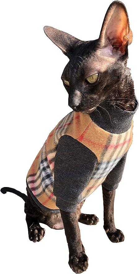 Kotomoda Ropa para Gatos Jersey de algodón células marrones (M): Amazon.es: Productos para mascotas