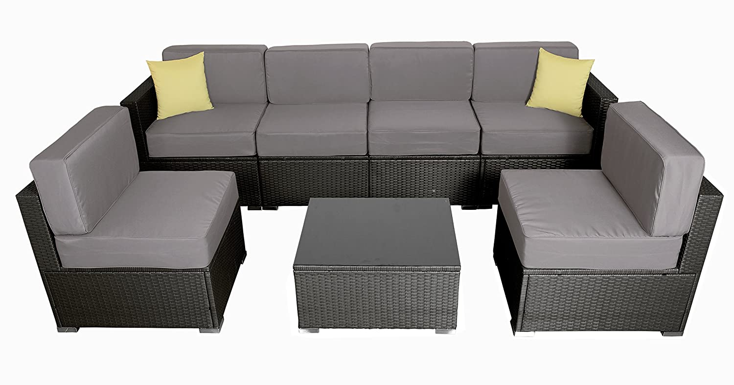 Amazon.com : MCombo Bigger Size Outdoor Furniture Luxury Patio Thick ...